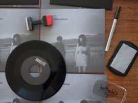 Diseño de portada para disco de bakelite