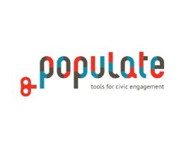 Diseño de marca e identidad visual para populate