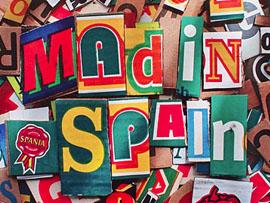 Diseño de carteles para el mad in spain - Madrid