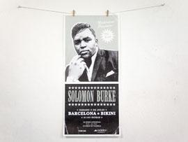 Diseño de carteles para Solomon Burke