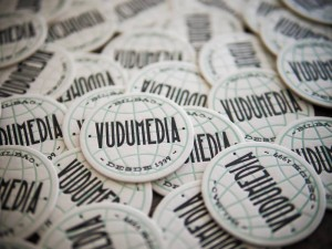 Tarjetas de Vudumedia en letterpress